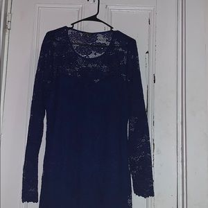 Charlotte Russe Royal Blue Lace Formal Dress
